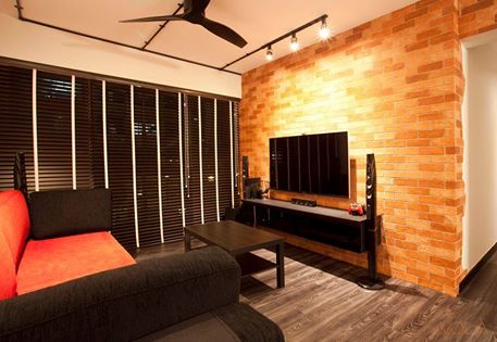 Bold Orange-Brown Brick Wall