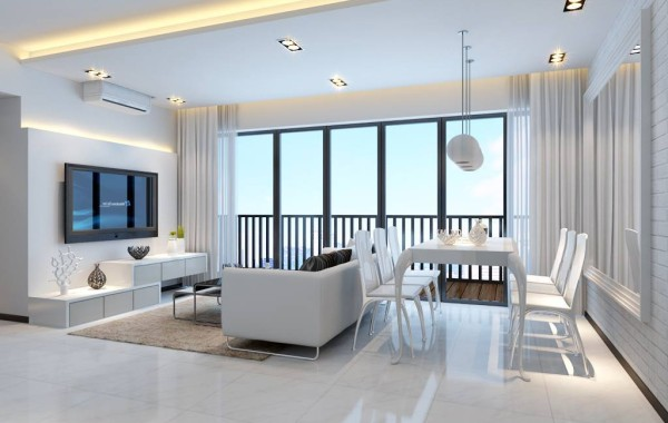 Beautiful minimalist white Interior Design Style
