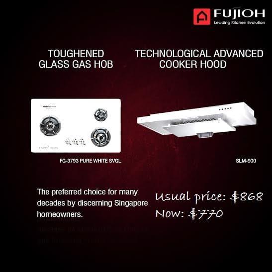 Fujioh Toughened Gas Hob and Technological Advanced Cooker Hood