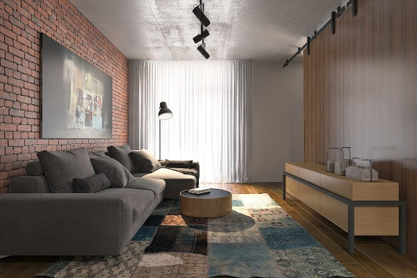 red-exposed-brick-in-tiny-apartment-600×400