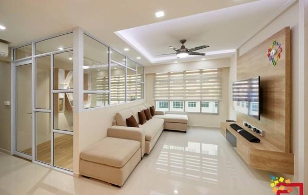 White and light wood scheme