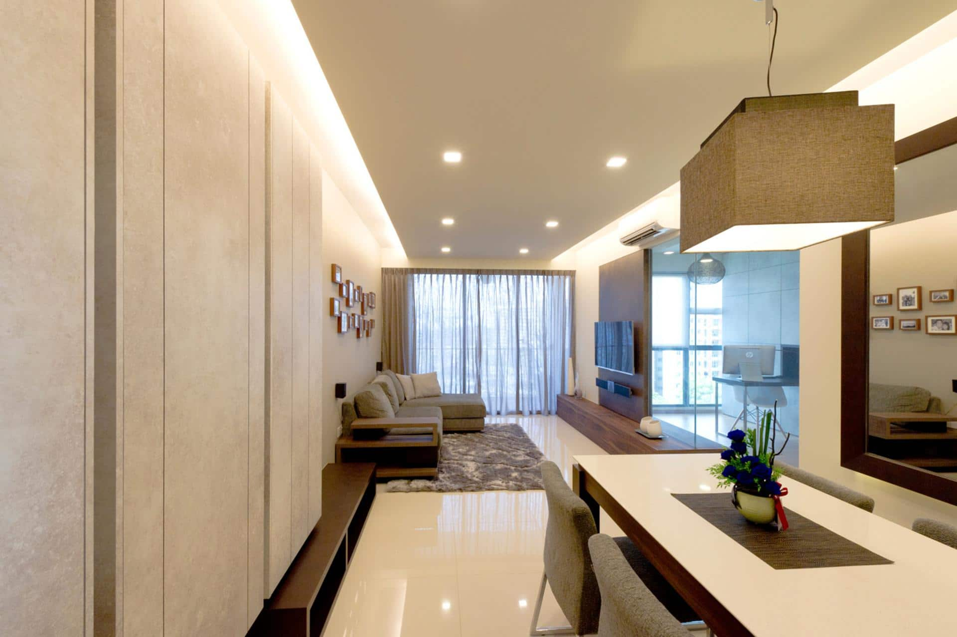 Dyel design modern minimalist 4 home renovation singapore for Minimalist house renovation