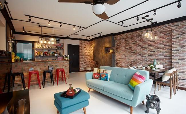 How natural bricks can change the look of your apartment001