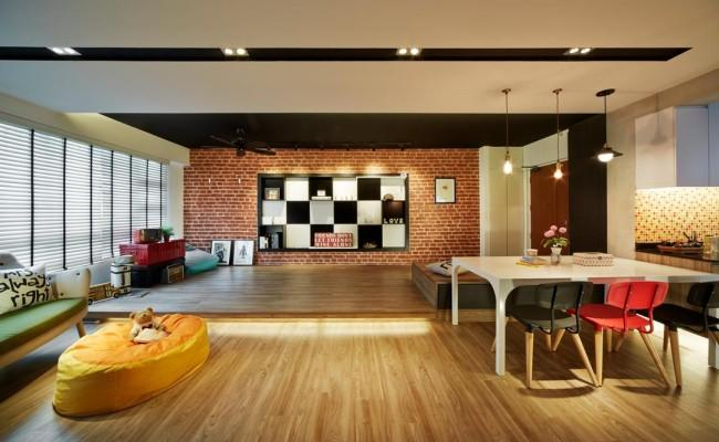 How natural bricks can change the look of your apartment002