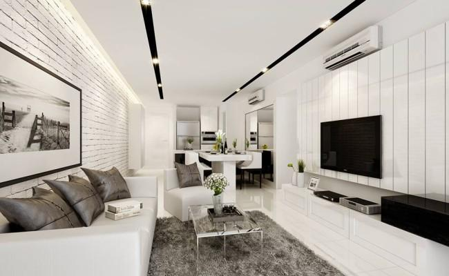How to create stunning black and white interior design for Interior house designs black and white