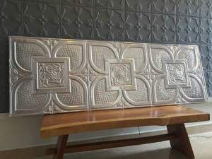 Replace your customary white walls with Decorative metal panel walls