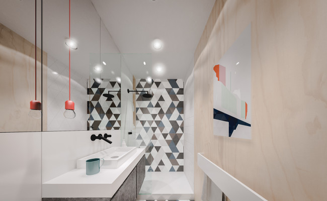 black-and-orange-bathroom