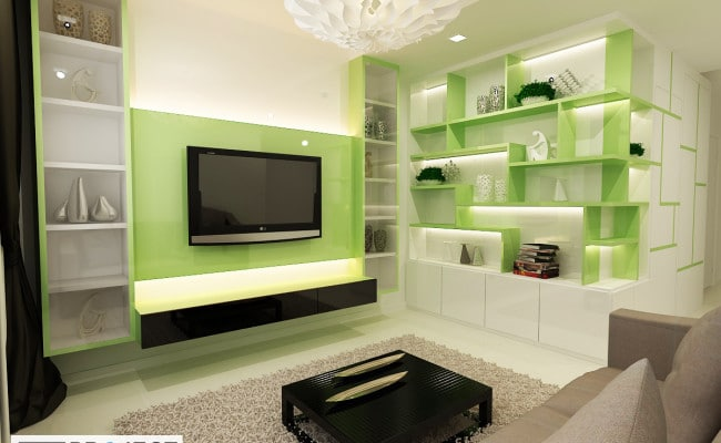 Breathe fresh with refreshing green interior