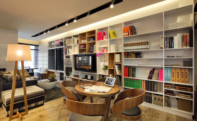 Dull corner of room Make over it with Interesting bookshelves designs (4)