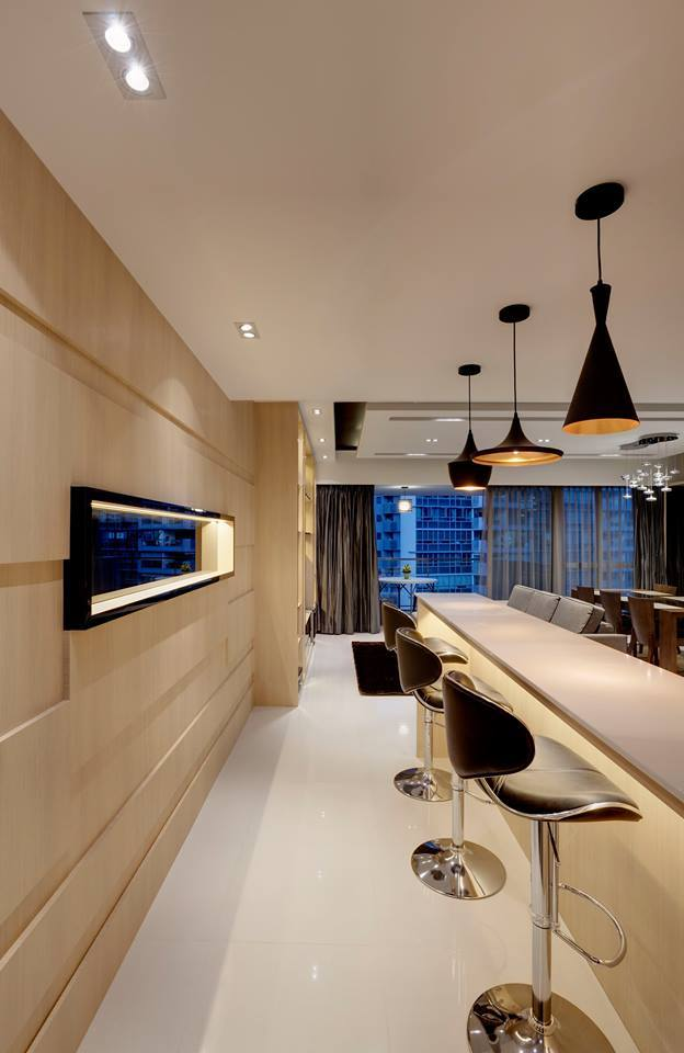 Vigilant Lighting Elements Dramatically Add a Timeless Spark to these 6 Affluent Apartments  (12)