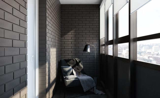 black-enclosed-balcony-design