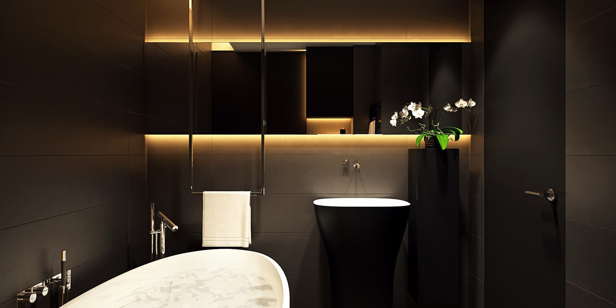 Gold And Black Bathroom Decor Home Renovation Singapore