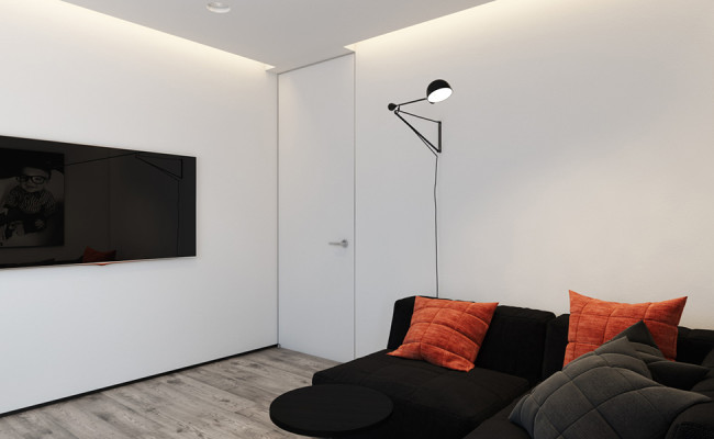 Function first approach - Orange and black room decor ...