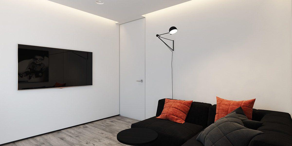 Orange And Black Bedroom Design Home Renovation Singapore