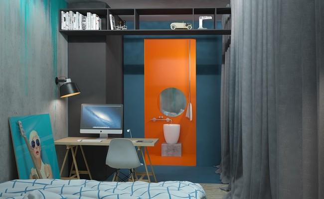Blue apartment Interior Design (1)