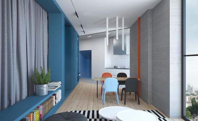 Blue apartment Interior Design (2)