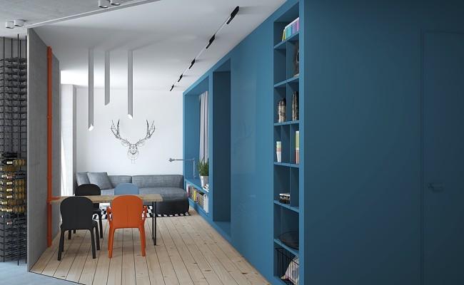 Blue apartment Interior Design (3)