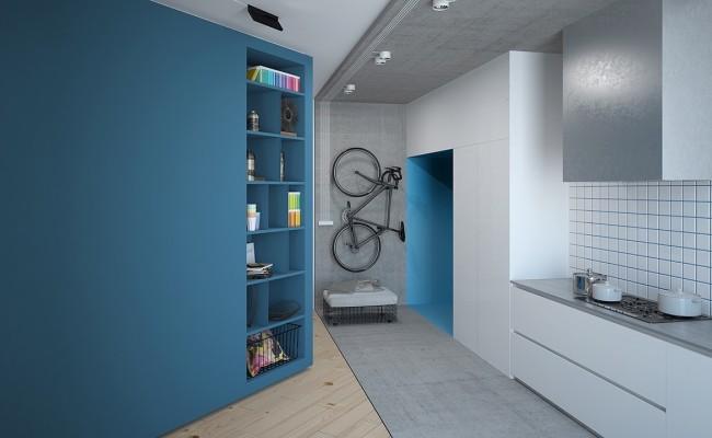 Blue apartment Interior Design (4)