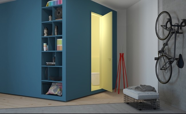 Blue apartment Interior Design (5)