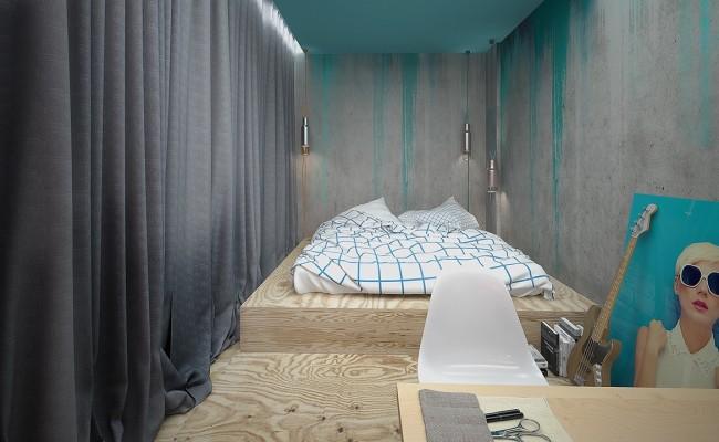 Blue apartment Interior Design (6)