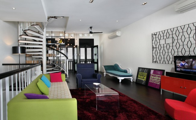 Bold and Stimulating Colours Are Influential in Creating this Stylish and Spacious Heaven