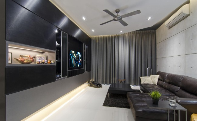 Despite the goal of creating a raw and masculine space, the modern apartment design could work for anyone (1)