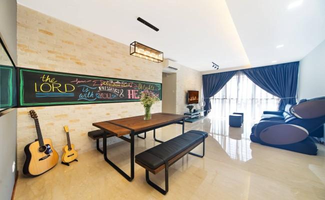 Modern Design with clever framed chalkboard! (3)