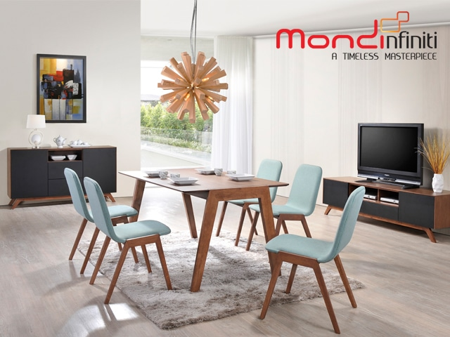 Mondi Infiniti-Tiffany Dining Set + Buffet + TV Sideboard