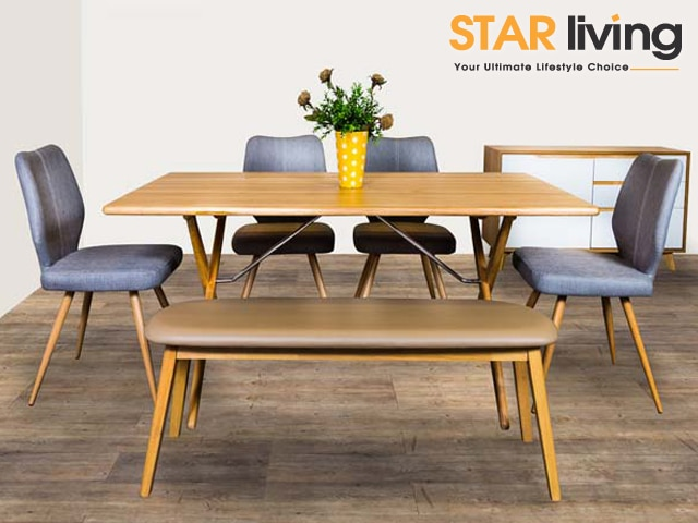 Star-Chess DT + Cotton-N Long Bench + Cathy DC + Ray Buffet