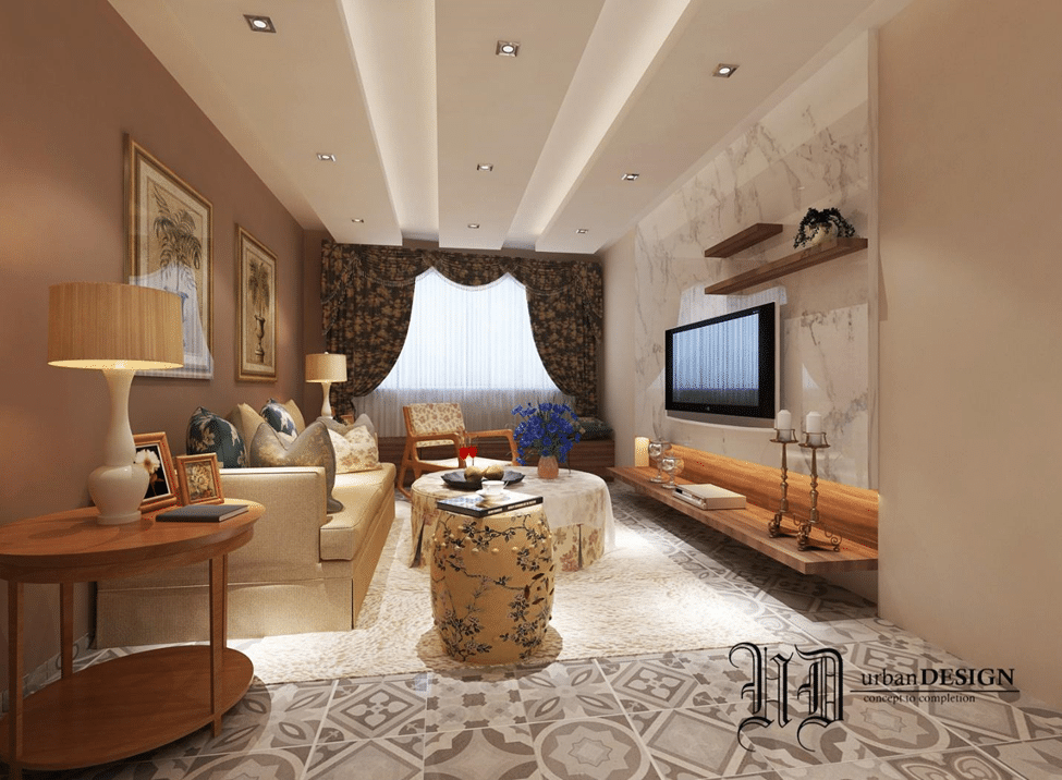 Living Room With Tv As Focal Point let your tv unit walls stand out with these creative ideas