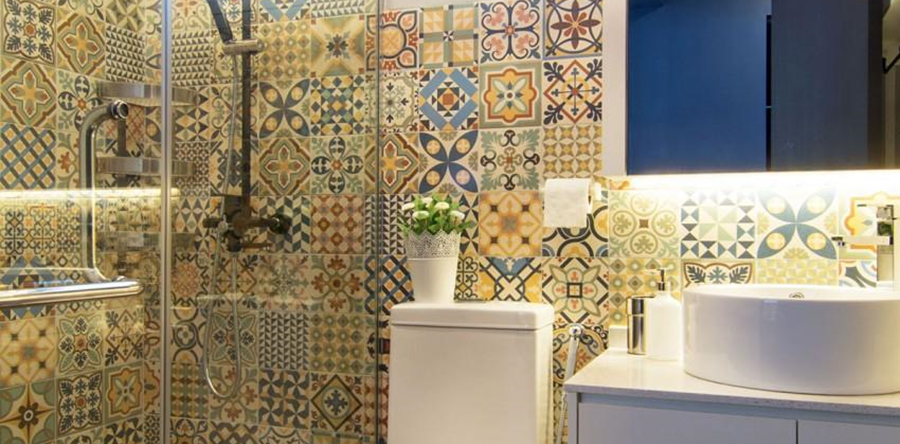 Unique bathroom tile designs and ideas an easy way to for Unusual bathroom flooring