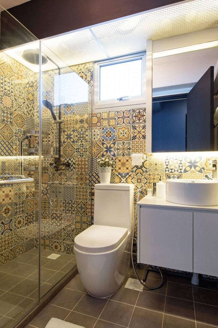Unique bathroom tile designs and ideas an easy way to for Bathroom designs singapore