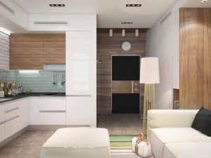 Interior with an appealing blank canvas