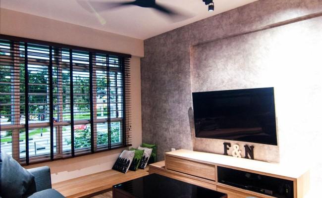 Scandinavian apartment combining glass with wooden flooring, concrete floor! (11)