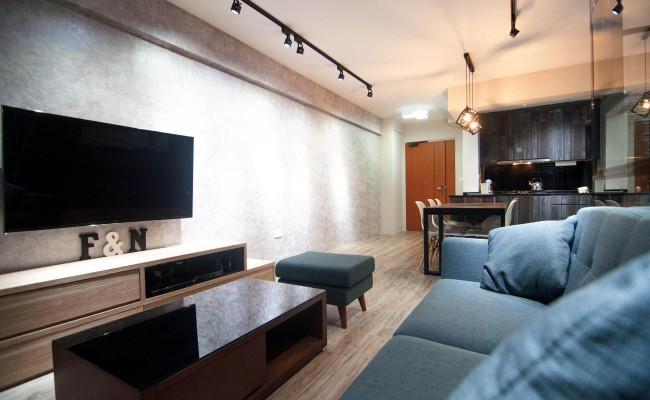 Scandinavian apartment combining glass with wooden flooring, concrete floor! (12)