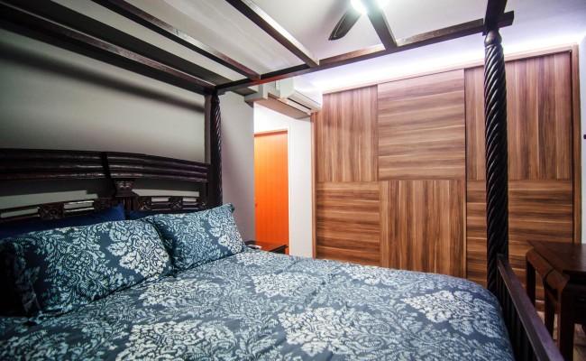 Scandinavian apartment combining glass with wooden flooring, concrete floor! (2)