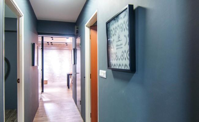 Scandinavian apartment combining glass with wooden flooring, concrete floor! (3)