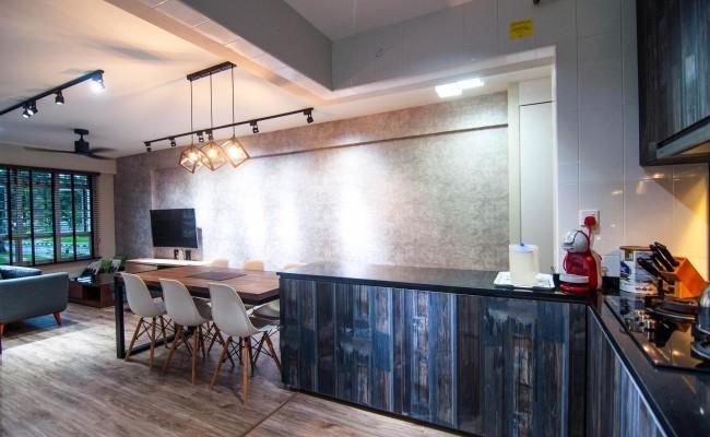 Scandinavian apartment combining glass with wooden flooring, concrete floor! (5)