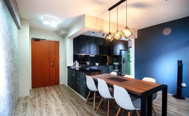 Scandinavian apartment combining glass with wooden flooring, concrete floor! (6)