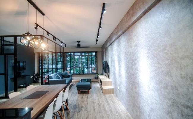 Scandinavian apartment combining glass with wooden flooring, concrete floor! (7)