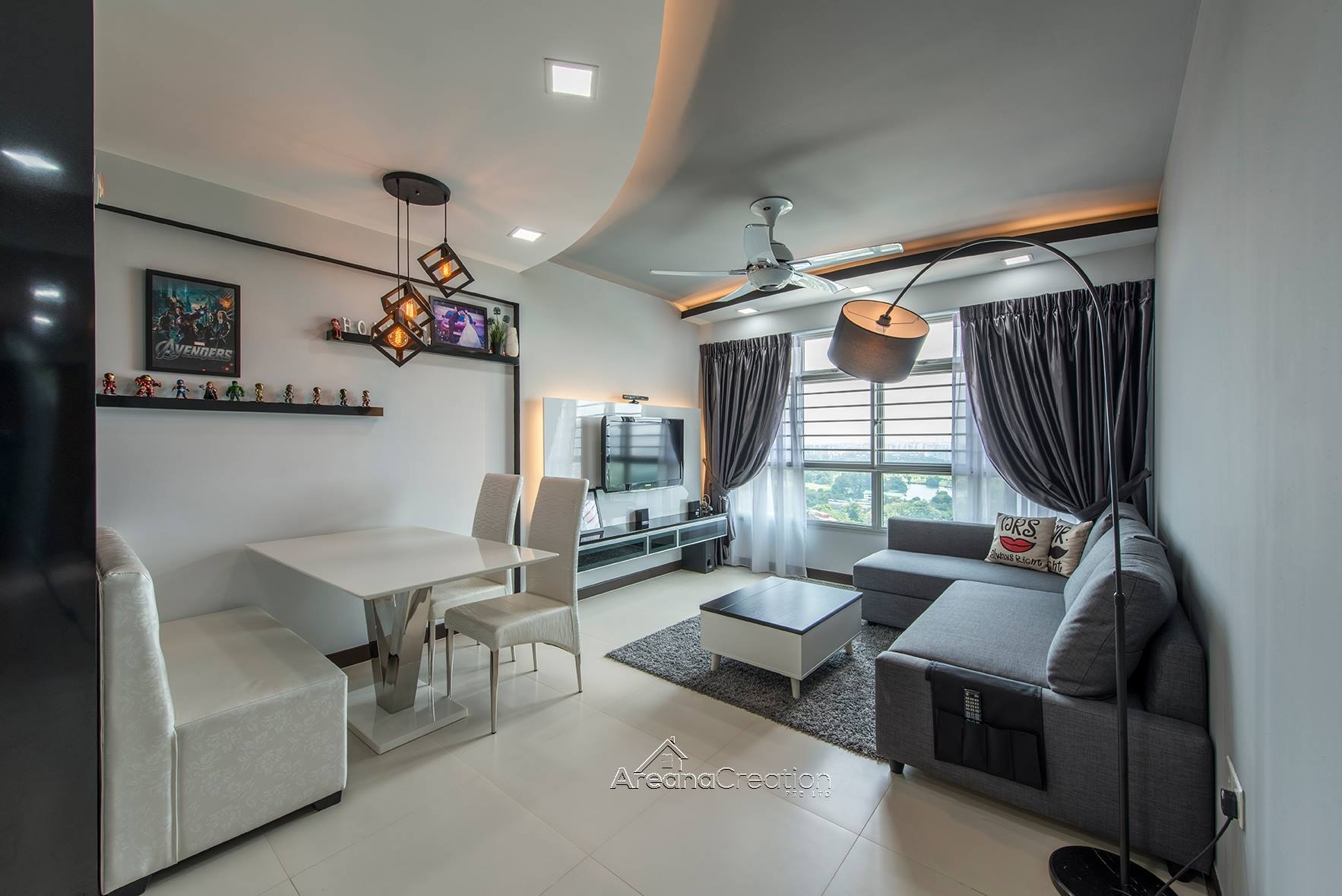 Simplicity at its best without complex interior design for Best interior design singapore
