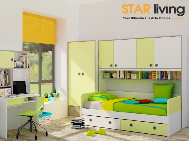 Funky Bedrooms: Colorful Kid's Bedroom Furniture