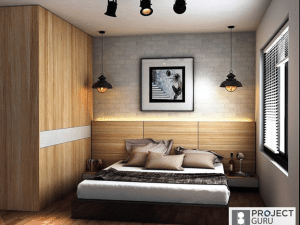 RUSTIC BEDROOM WITH BRILLIANT ACCENT WALLS