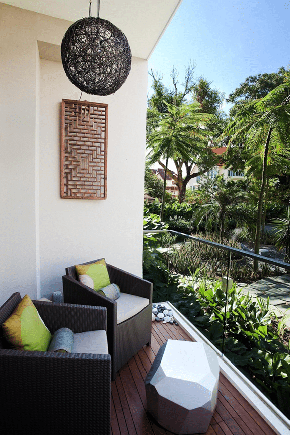 Stylish balcony designs for your summers for Hdb balcony design