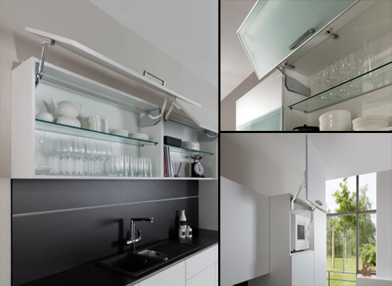Make your kitchen cabinets fly with flap fittings Kitchen design and fitting