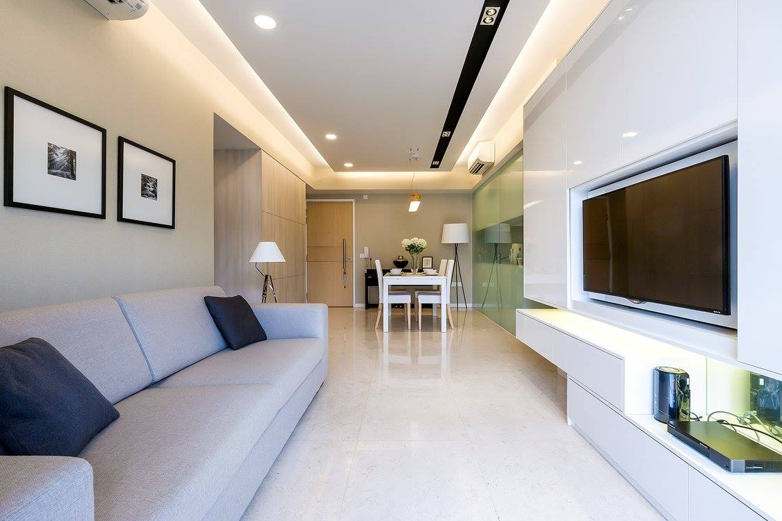 Modern home with a special emphasis on WHITE!