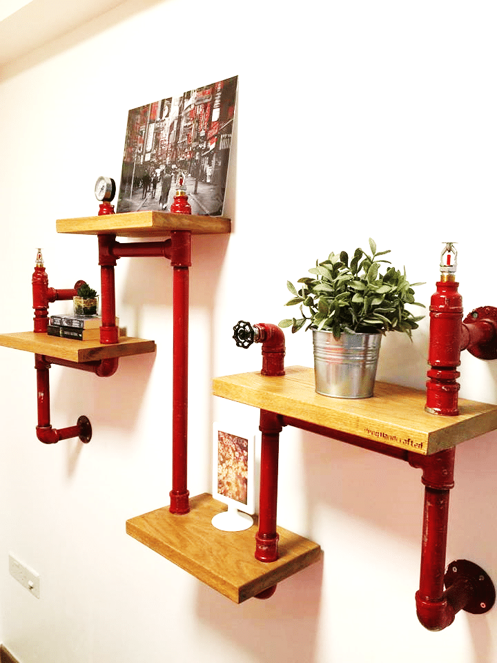 Create more space with handcrafted Racks and Showcases