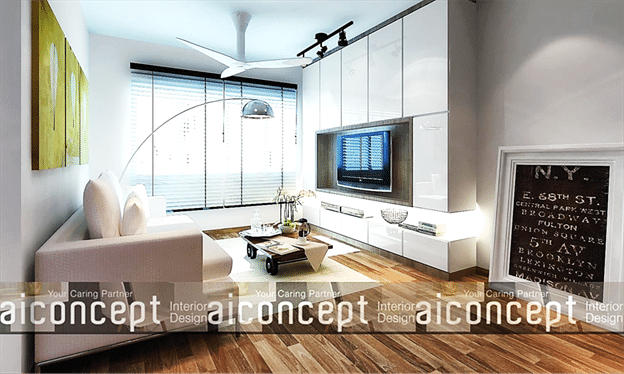 Home Interior Tips To Add White Interior with Wooden Floor (2)
