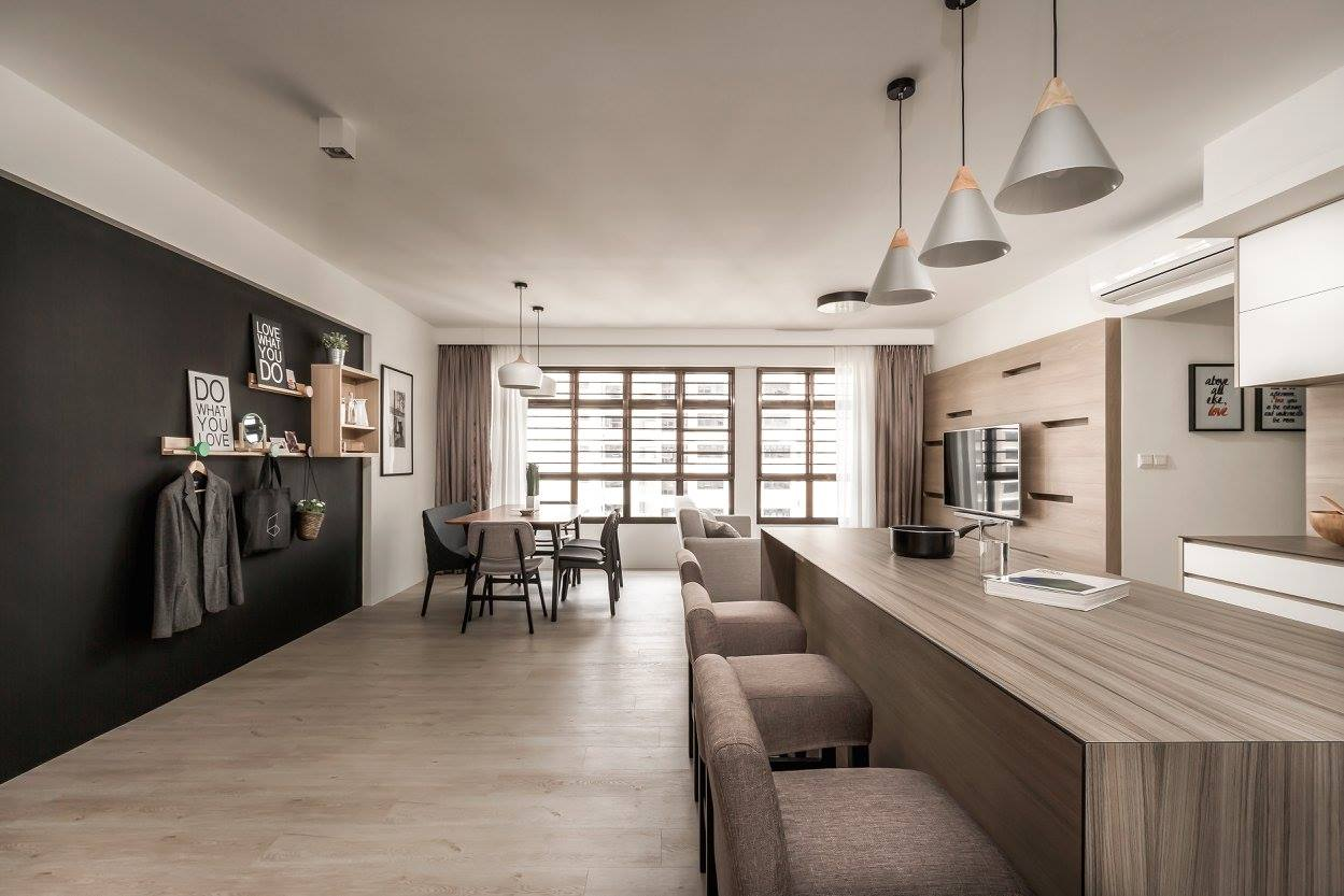 Modern interior design that fully embrace natural grain ...