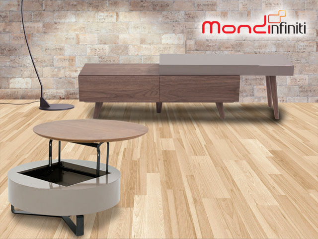 Mondi - Sarah Functional Round Coffee Table & TV Sideboard